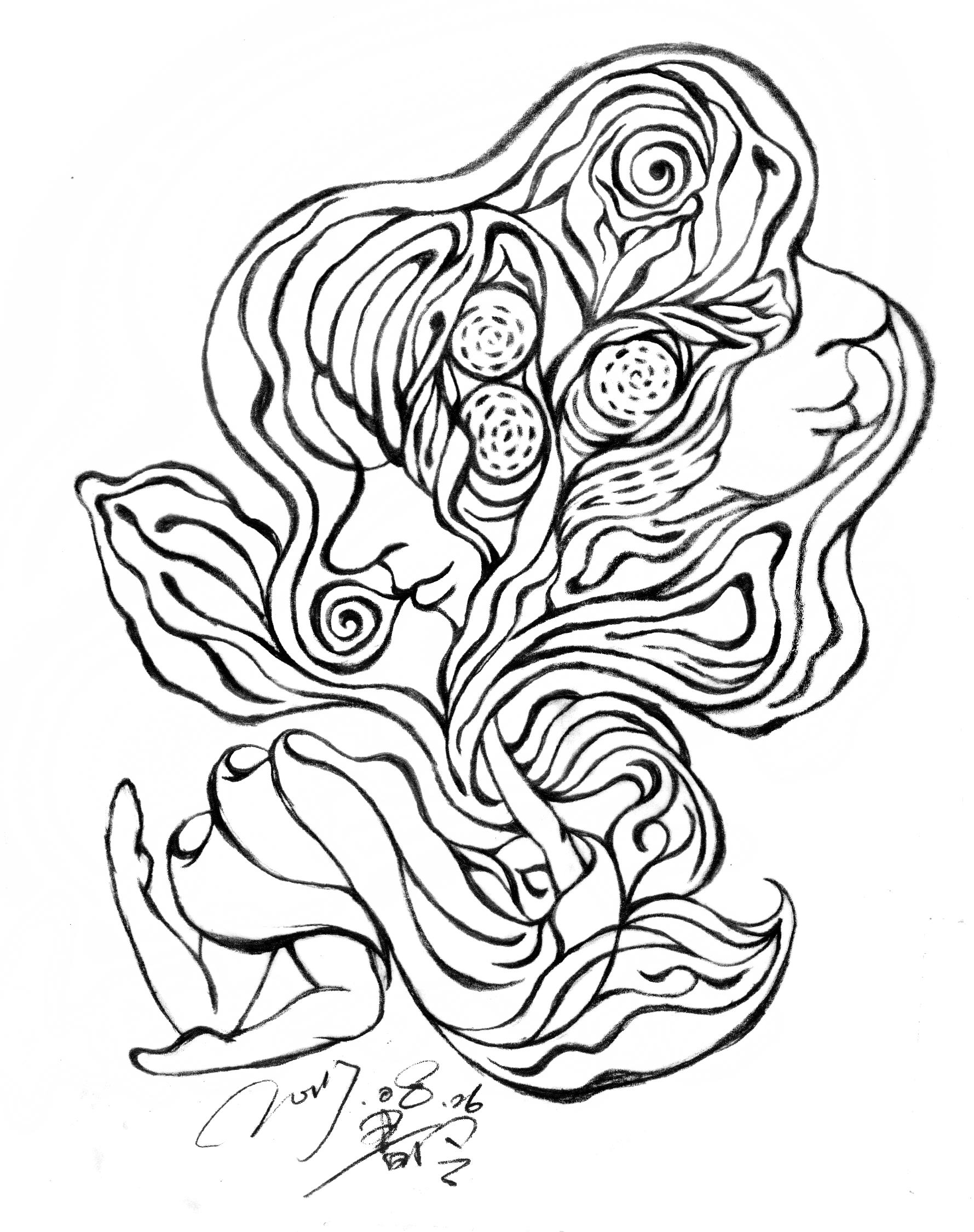 suelynee drawing 何書伶 dance